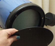 Removing the primary mirror cover