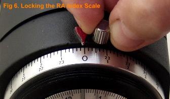Locking the RA Index Screw