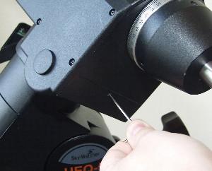 Tighten Worm Carrier Lower Set Screw